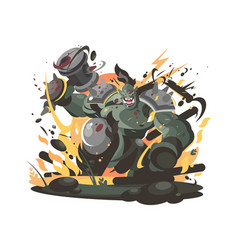 orc character in war hammer vector image