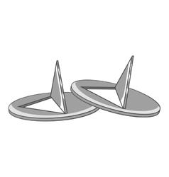 Pushpins icon gray monochrome style vector image