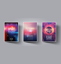 summer night club party flyer or poster layout vector image