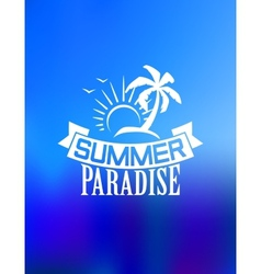 Summer paradise poster vector image