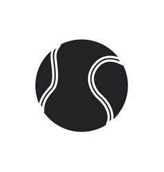 tennis ball sport play equipment pictogram vector image