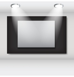 White frames in art gallery ector vector image vector image
