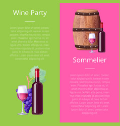 wine party and sommelier icons vector image vector image