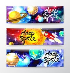deep space vector image