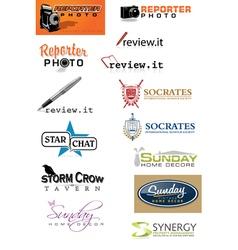 Logo Set 6 vector image vector image