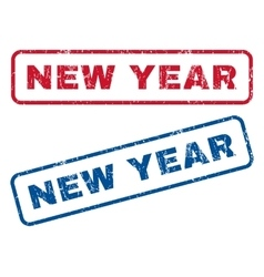 New Year Rubber Stamps vector image vector image