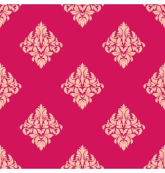 Pink and beige floral seamless pattern vector image vector image