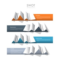 SWOT - Strengths Weaknesses Opportunities Threats vector image