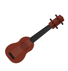 a small ukulele guitar isolated vector image vector image