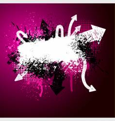 arrow paint splatter vector image vector image