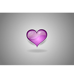 heart grey background pink vector image