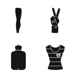 leg tin and other web icon in black style warmer vector image vector image