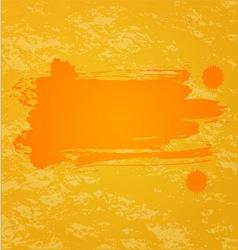Orange splash background vector