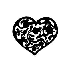 Ornamental vintage heart vector image