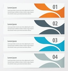Abstract banner Orange blue gray color vector