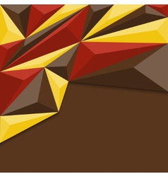 Abstract geometric background in red yellow and vector image