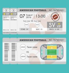 american football ticket modern design american vector image