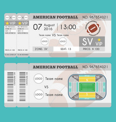 american football ticket modern design vector image