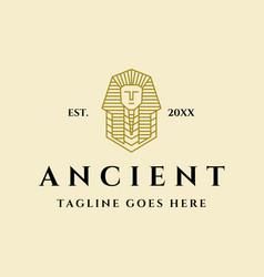 Ancient pharaoh logo vector