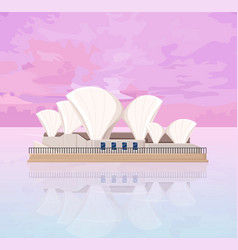 Australia architecture famous landmark at sunset vector