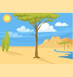 australia wild background landscape cartoon vector image