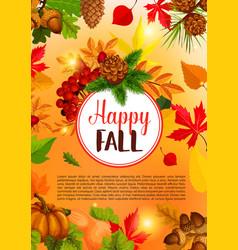 Autumn season and thanksgiving day banner design vector