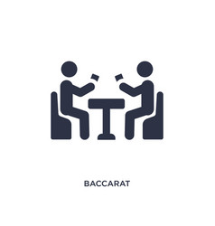 Baccarat icon on white background simple element vector