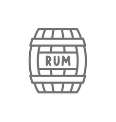 barrel rum alcohol drink container wooden vector image