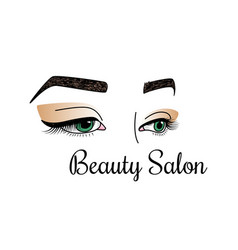 Beauty salon logotype with womens vector