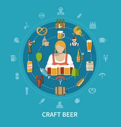 beer flat vector image