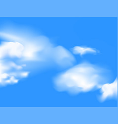 Blue sky with cloud scene vector