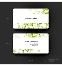 Business card template with DNA molecule vector image