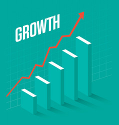 business graph showing growth vector image