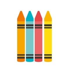 cartoon crayons colors graphic isolated vector image