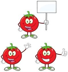 Cartoon tomato vector