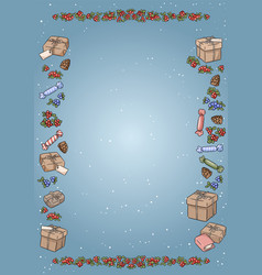 christmas elements doodles colorful a4 template vector image