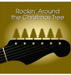Christmas rock09a vector