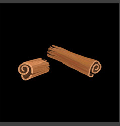 Cinnamon fragrant spice on a vector
