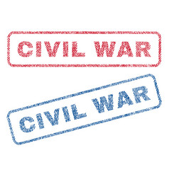 Civil war textile stamps vector