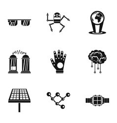 Computer latest devices icons set simple style vector