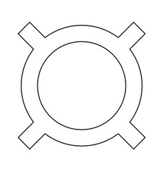 Computer symbol any currency icon vector