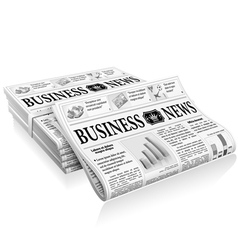 Concept - Business News vector image