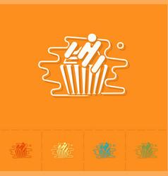 Cupcake modern flat icon vector