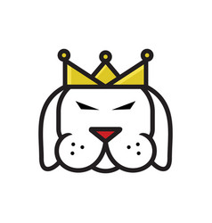 dog king logo vector image