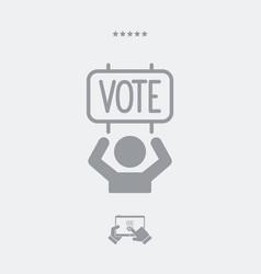 Electoral supporters - web icon vector
