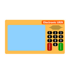 electronic device for voting in presidential and vector image