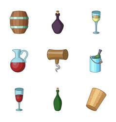 ethanol icons set cartoon style vector image