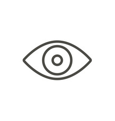 eye icon line vision symbol vector image