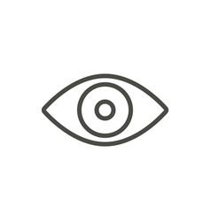 eye icon line vision symbol vector image