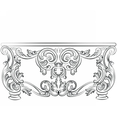 Fabulous Rich Rococo Desk Table vector